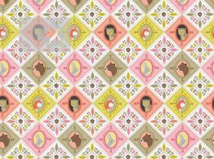 Stoff Waldtiere Eulenstoff Baumwolle rosa