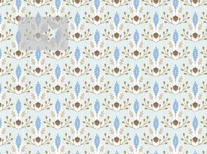 Eichel Stoff Baumwolle hellblau
