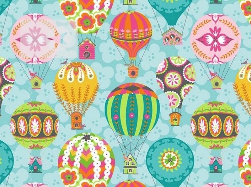 Stoff Heißluftballon Baumwolle Luftballon | Stoffe Online Shop ...