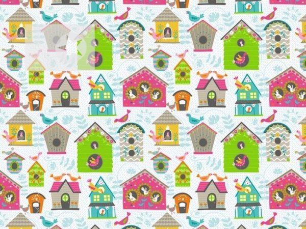 Stoff Vogelhaus Baumwolle Vogelhäuschen