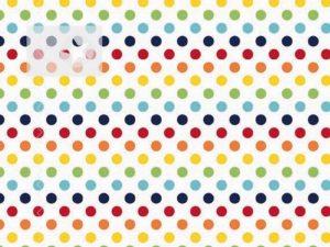 Baumwolle Stoff Punkte rot blau