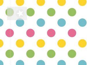 Baumwolle Stoff Punkte rosa gelb