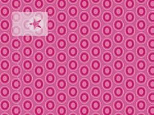 Baumwolle Stoff Punkte Kreise pink