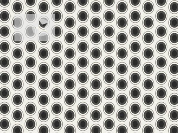 Baumwolle Stoff Punkte Kreise schwarz weiß