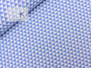 Baumwolle Stoff Dreiecke hellblau