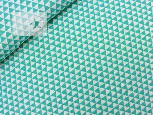 Baumwolle Stoff Dreiecke mint