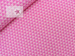 Baumwolle Stoff Dreiecke rosa