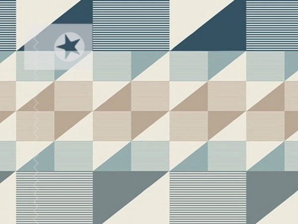 Baumwolle Stoff grafische Muster aqua taupe