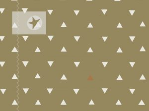Baumwolle Stoff grafische Muster Dreiecke kaki