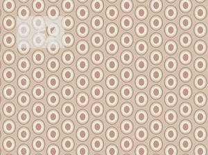Baumwolle Stoff Punkte Kreise cremeweiß