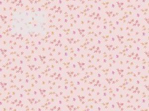 Baumwolle Stoff Blumen Streublümchen rosa