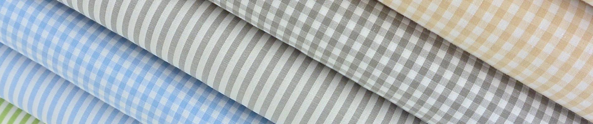 Baumwolle Streifen Karos