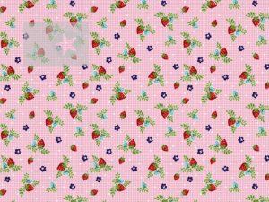Erdbeerstoff Baumwollstoff Erdbeere