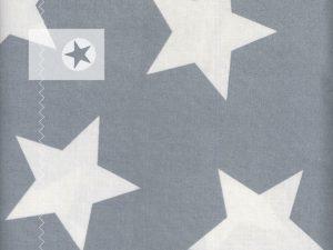au maison Wachstuch Giant Stars grau