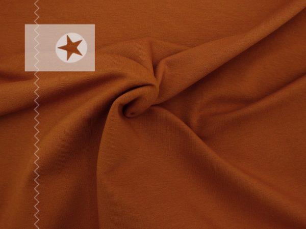 Sweatstoff uni karamell