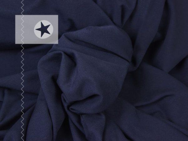 Jersey Stoff uni dunkelblau