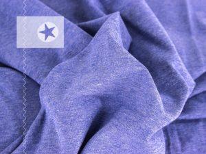 Bündchenstoff meliert blau