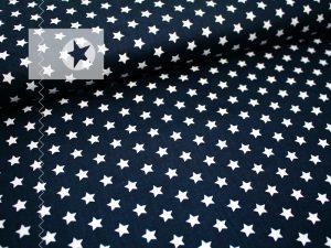 Baumwolle Sterne blau weiß