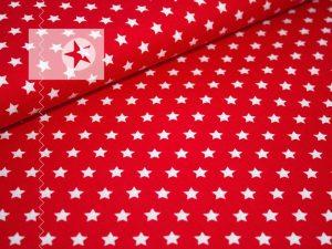 Baumwolle Sterne rot weiß