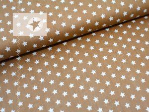 Baumwolle Sterne beige weiß