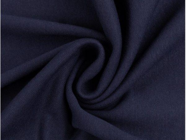 Glatter Bündchenstoff dunkelblau