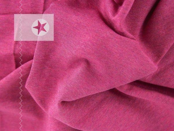 Jersey Stoff meliert pink