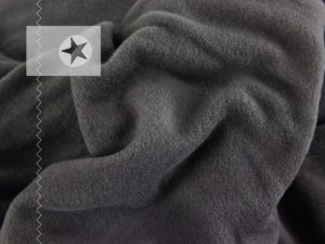 Fleece Stoff uni grau
