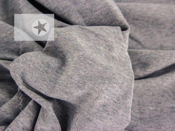 Jersey Stoff meliert grau