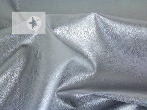 Kunstleder metallic silber