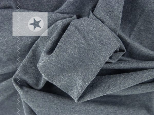 Sweatstoff angeraut uni graublau