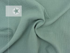 Musselin Stoff dusty mint