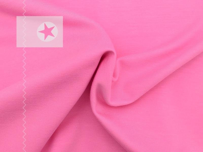jersey stoff uni rosa stoffe online shop clarasstoffe. Black Bedroom Furniture Sets. Home Design Ideas