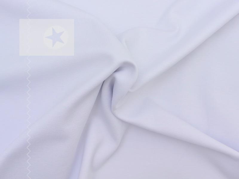 jersey stoff uni wei stoffe online shop clarasstoffe. Black Bedroom Furniture Sets. Home Design Ideas
