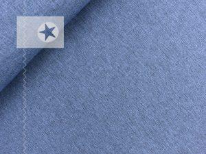 Softshell Stoff meliert blau