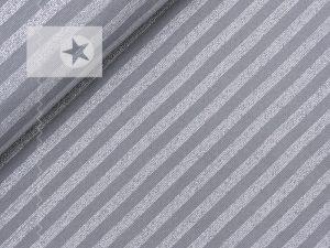 Bündchenstoff grau gestreift silber