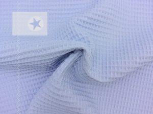 Waffelpique baby blau