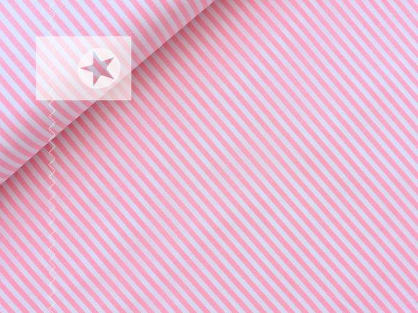 Baumwollstoff gestreift rosa