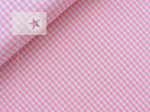 Baumwollstoff Vichy Karo rosa