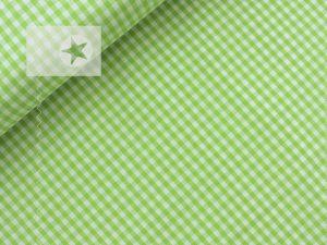 Baumwollstoff Vichy Karo hellgrün