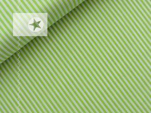 Baumwollstoff gestreift hellgrün