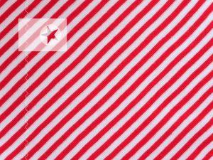 Bündchenstoff gestreift rot weiß