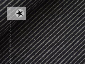 Jersey Streifen grau schwarz