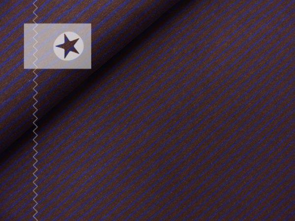 Jersey Streifen braun blau