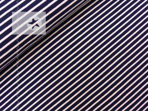 Jersey Streifen dunkelblau weiß