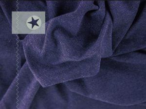 Bündchenstoff meliert dunkelblau
