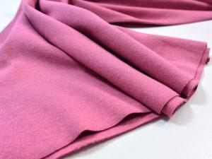 Schwerer Bündchenstoff pink meliert
