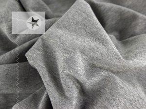 Sweatstoff uni grau meliert