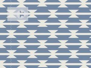 Jersey Stoff grafische Muster blau