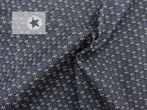 Baumwolle Stoff Blumen dunkelgrau taupe