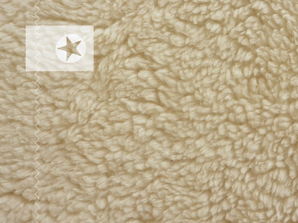 teddy pl sch stoff baumwolle cremewei stoffe online. Black Bedroom Furniture Sets. Home Design Ideas